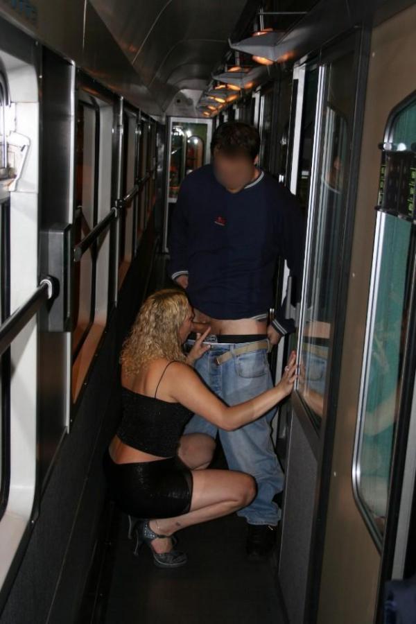 Obciąganie w pociągu