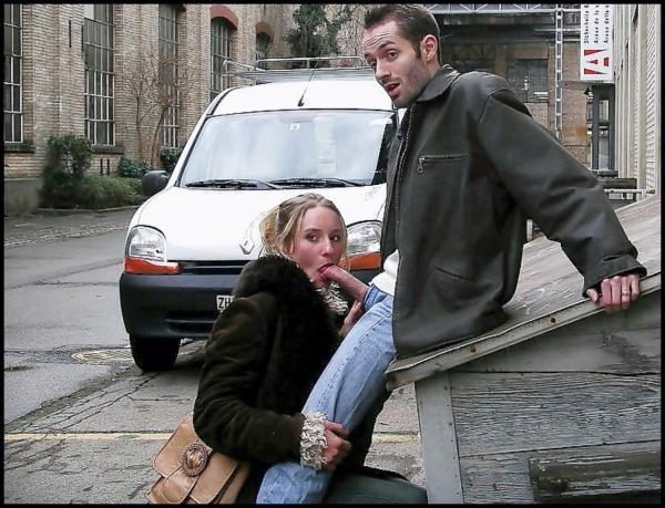 Rosjanka robi loda na ulicy