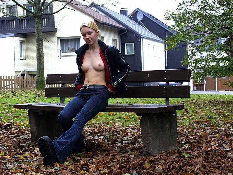 Cycki w parku